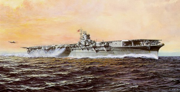 Artwork showing the Shokaku 1944 by Takeshi Yuki in Color Paintings of Japanese Warships 0A